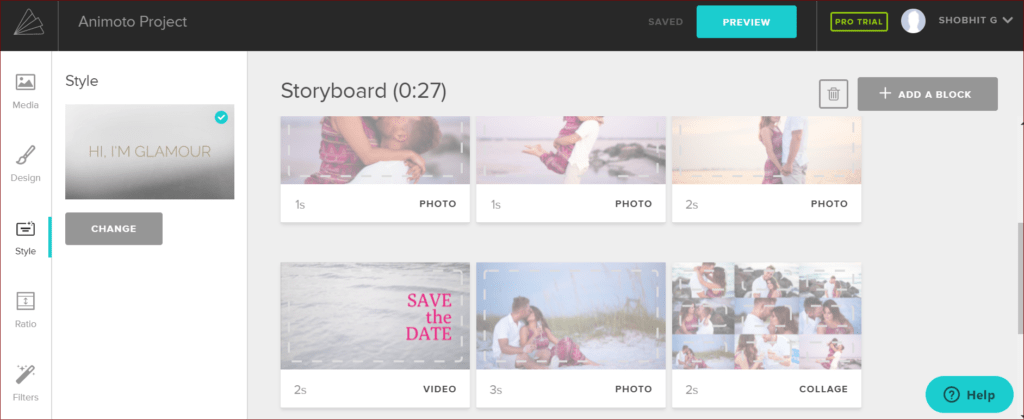 Animoto Storyboard helps in easy creation of Videos for Ads  Product launch and Business Presentations