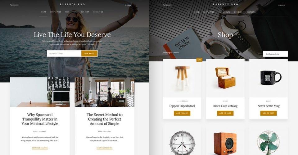 Design landing-page-for-wordpress-site-using-elementor using Essence Pro Theme