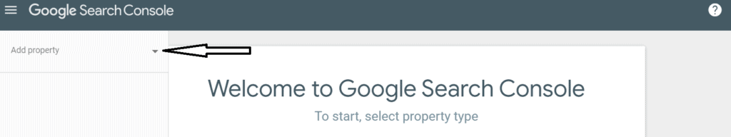 How to add property in Google Search Console