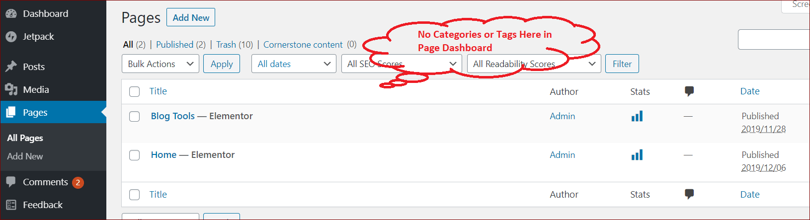 Post vs Page in WordPress