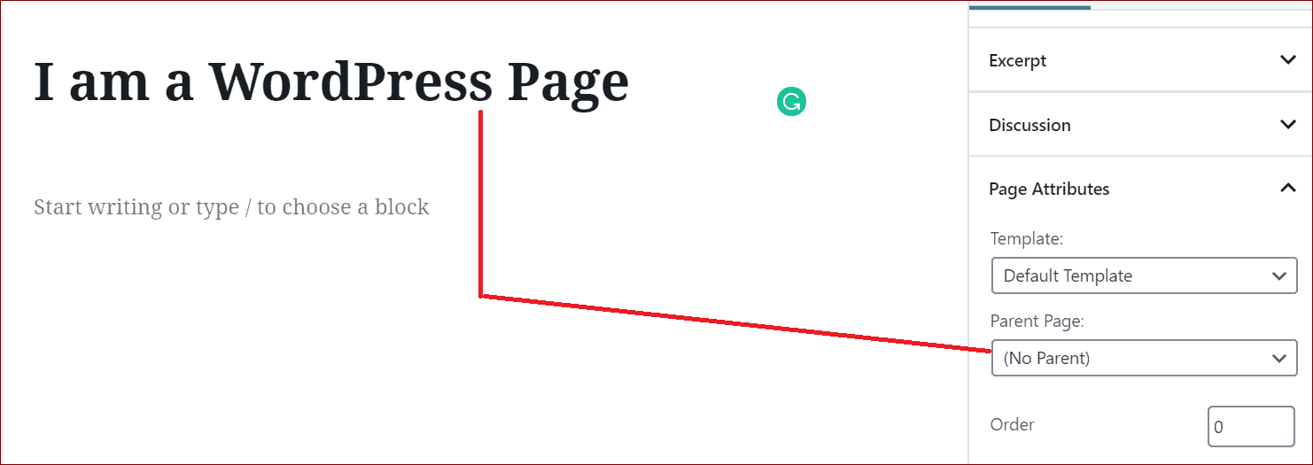 A WordPress Page can have a Hierarchy
