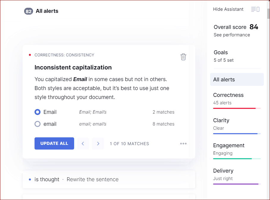 Grammarly For Chrome Performance Score