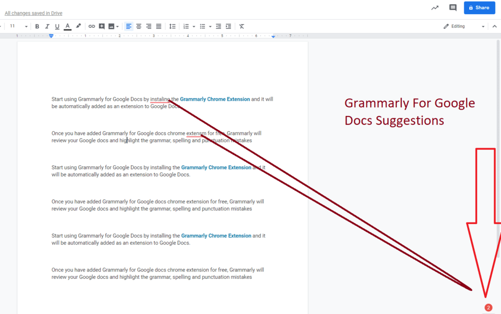 Grammarly for Google Docs