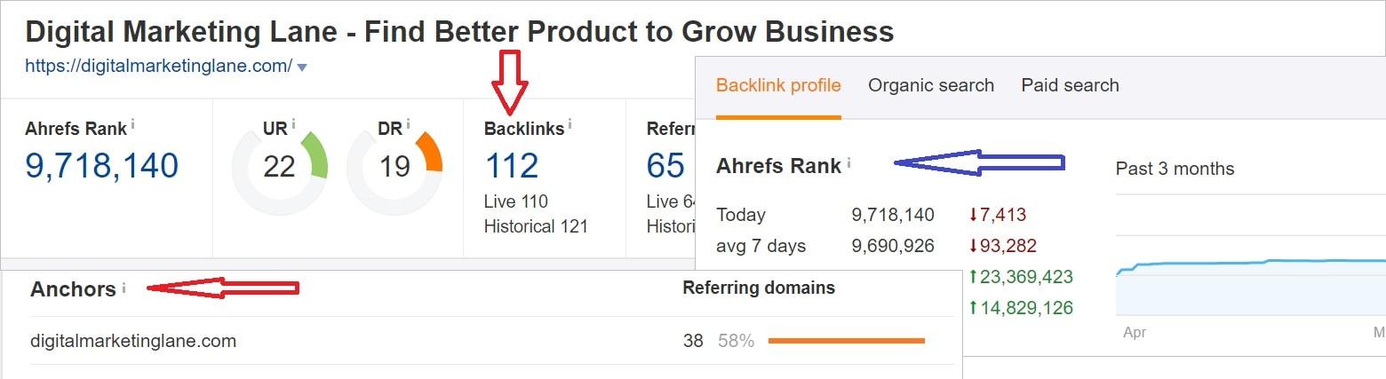 Backlink audit using Ahrefs
