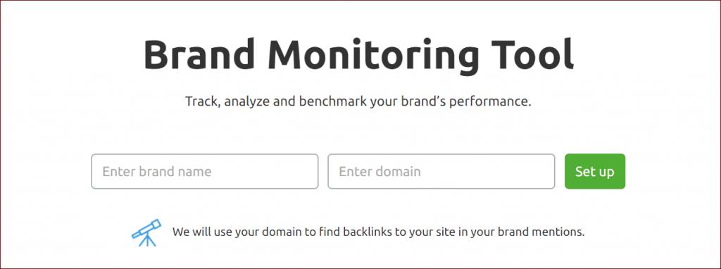 Brand Monitoring Tool of SEMrush