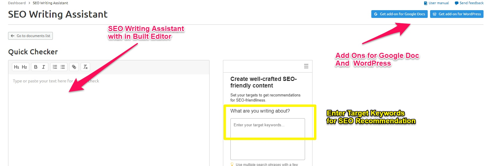 SEO Writing Assistant Overview