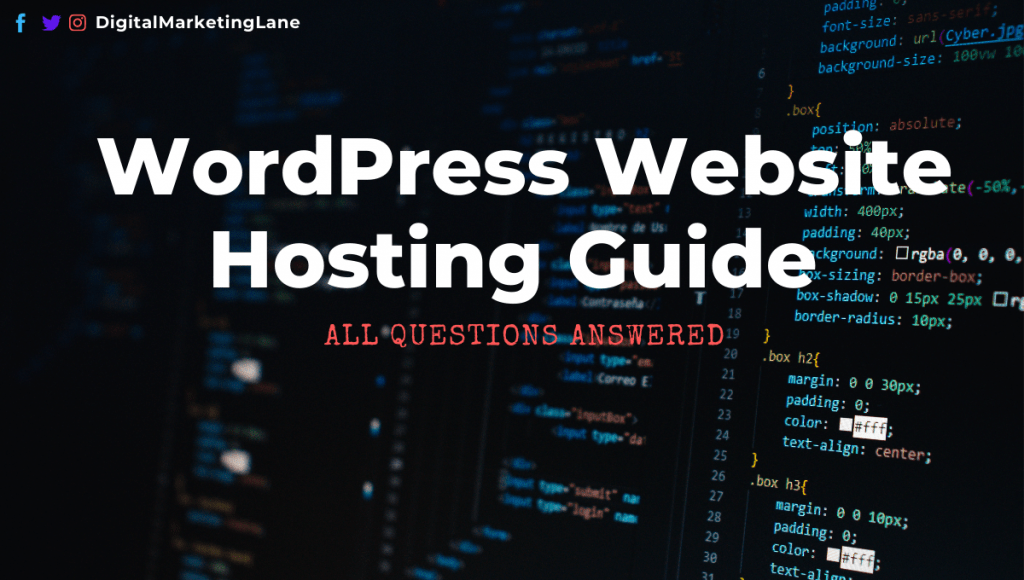 WodPress Website Hosting Guide
