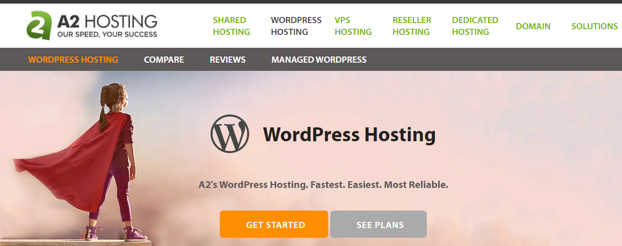A2Hosting Shared WordPress Hosting Plans