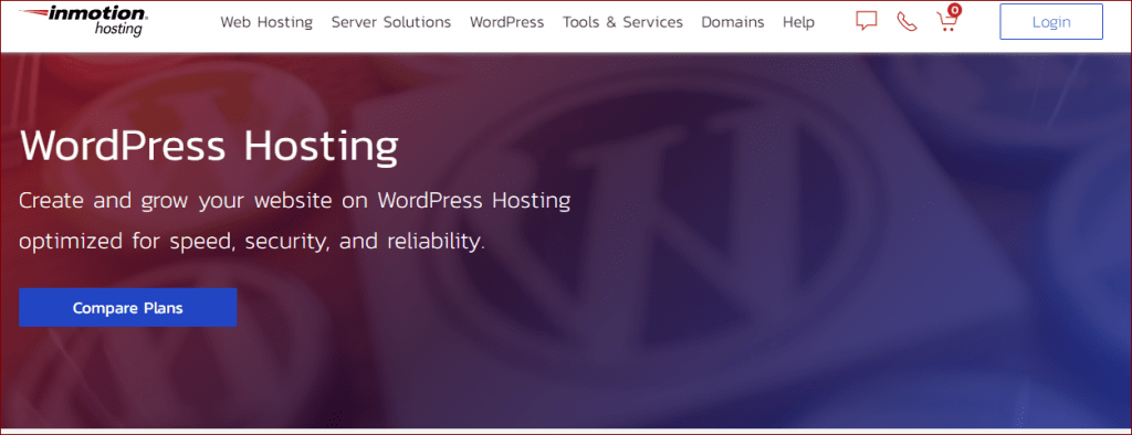 InMotion Shared WOrdPress hosting