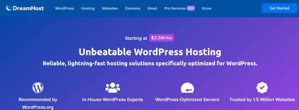 Dreamhost Shared WordPress Hosting