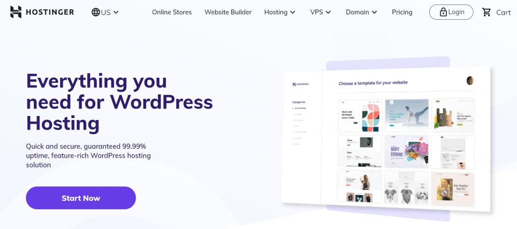 Hostinger Shared WordPress Hosting Plans