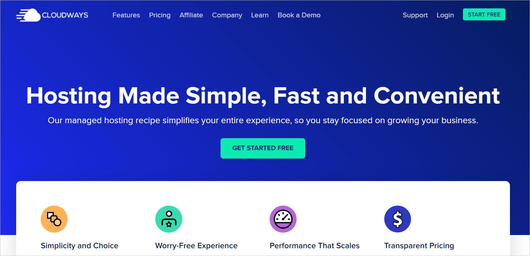 Cloud ways managed WordPress Hosting