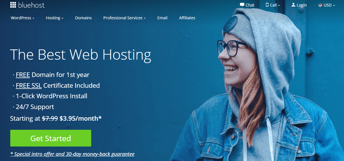 BlueHost Shared WordPress Hosting