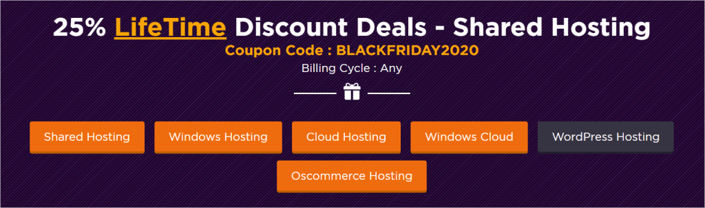 black friday Web Hosting deal