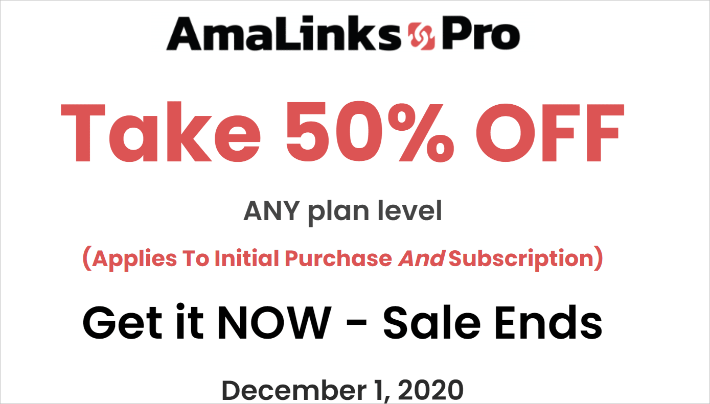 Black Friday WordPress Deals on Amalinks Pro