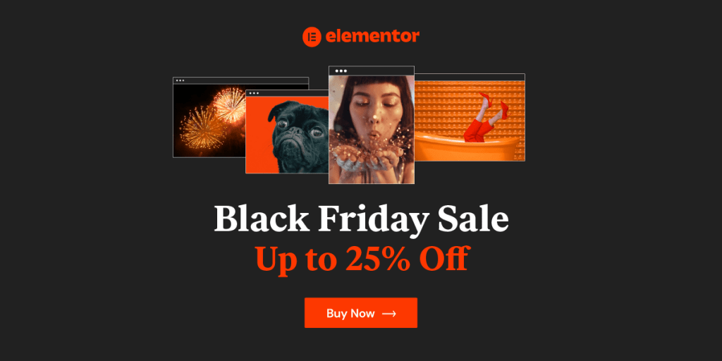 Elementor Black Friday Deals on WordPress