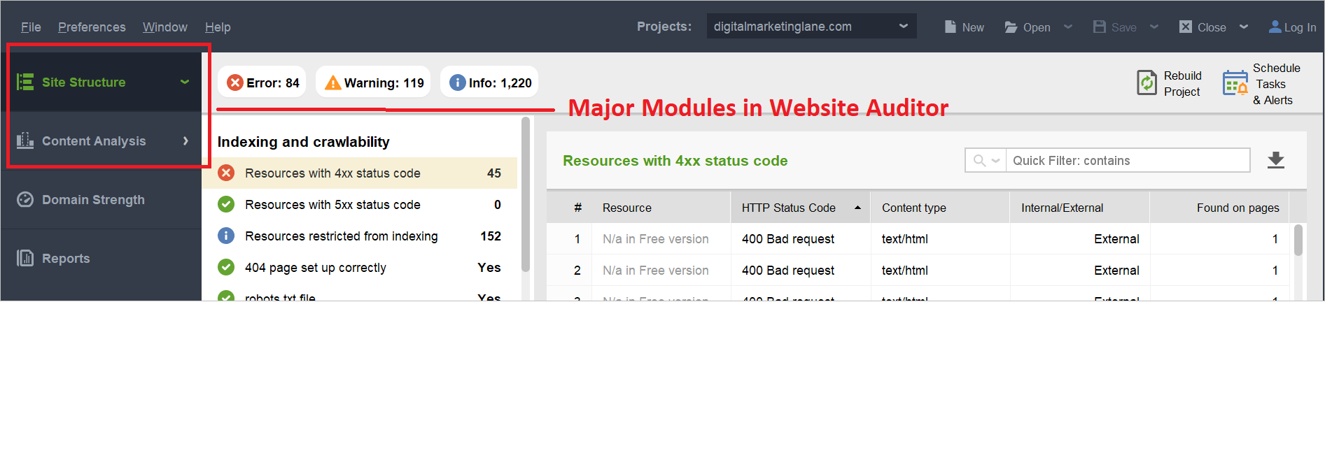 SEO PowerSuite Review for Website Auditor