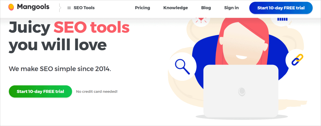 Mangools KW Finder Free Seo Tool