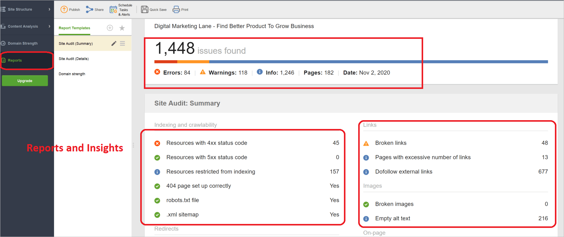 SEO Reports with SEO PowerSuite