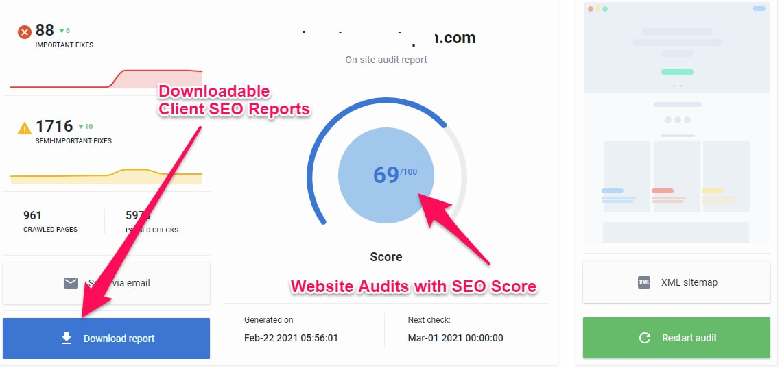 Website Audits with SE Ranking