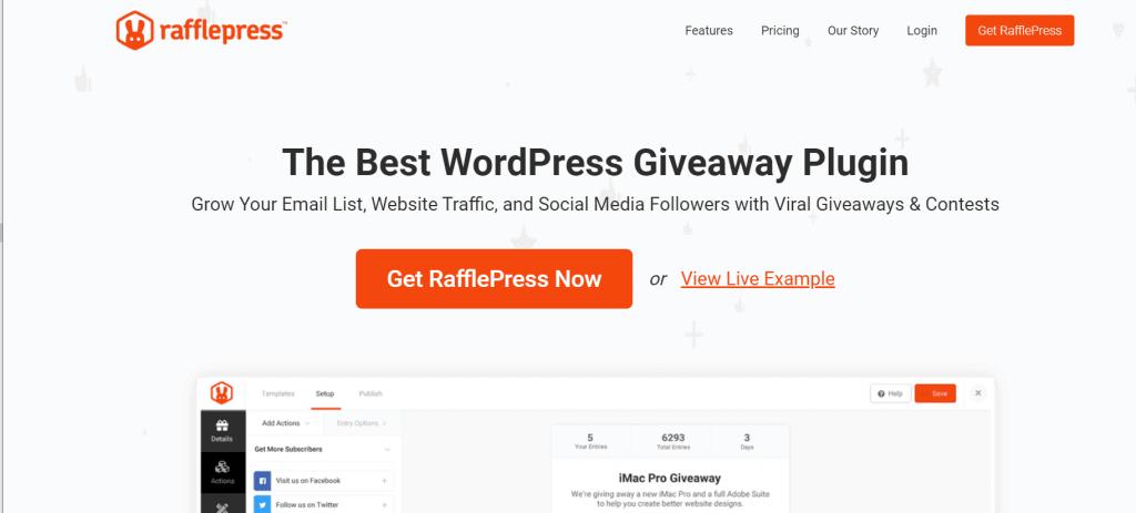 WordPress Plugin for giveaways