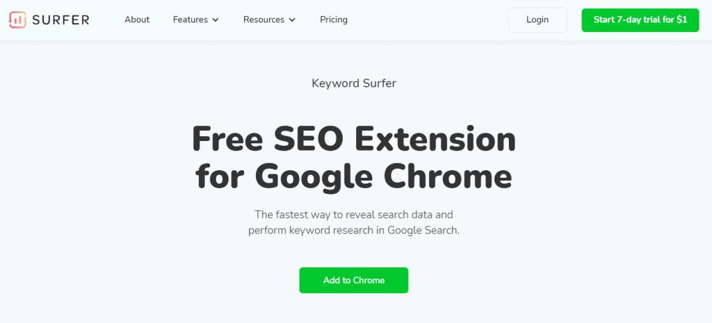 Keyword Surfer Free Seo Tool